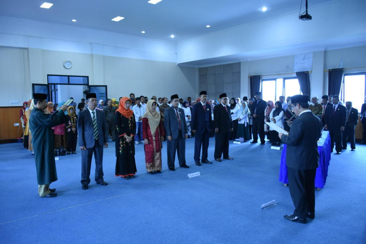 Rektor Lantik Pembantu Rektor:  2019 ISI Padangpanjang Minimal Empat Prodi Terakreditasi A