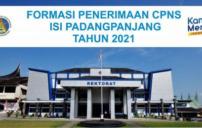 Formasi Penerimaan CPNS ISI Padangpanjang Tahun 2021