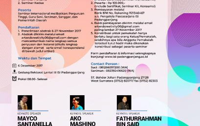 International Conference Art and Creativity PostGraduate Program of Institut Seni Indonesia Padangpanjang