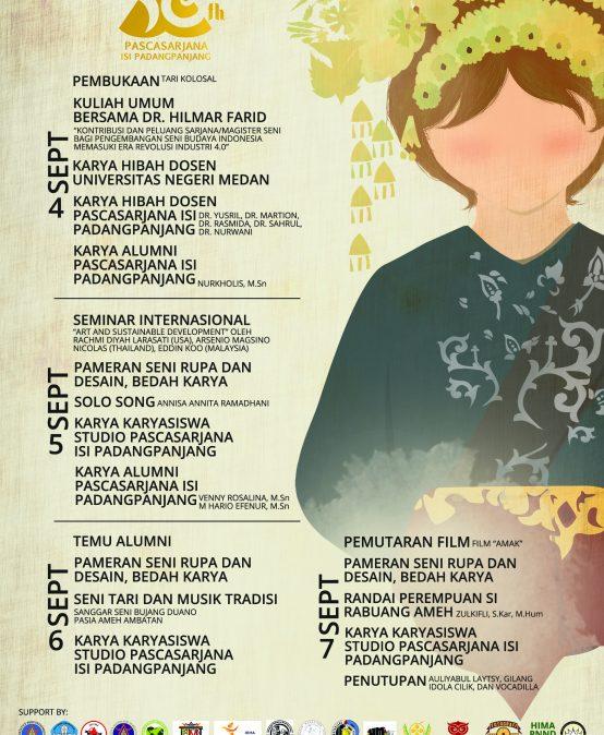 """10th Anniversary Pascasarjana ISI Padangpanjang """"Linimasa"""