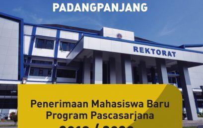 Penerimaan Mahasiswa Baru Program Pascasarjana 2019/2020