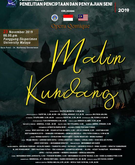Pertunjukan Karya Opera Malin Kundang (OMK) Full Orkestra