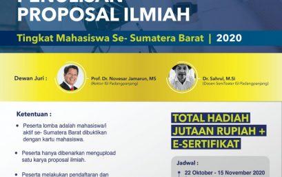 LOMBA PENULISAN PROPOSAL ILMIAH 2020