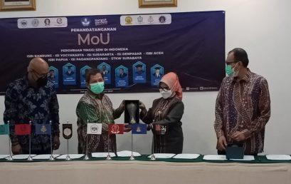 Penandatanganan MoU Sembilan Perguruan Tinggi Seni di Jakarta