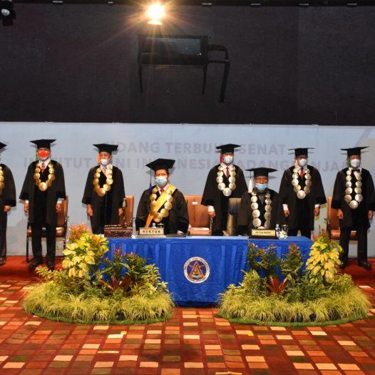 ISI Padangpanjang menggelar wisuda periode I Tahun Akademik 2021/2022, Selasa 14 September 2021.
